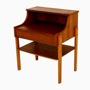 Nachttisch aus Teakholz und Buche, 1960er