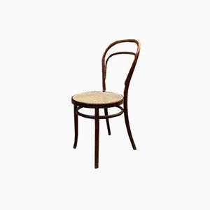 Moderne Mid-Century Modell 214 Stühle mit Wiener Stroh von Thonet, 1940er