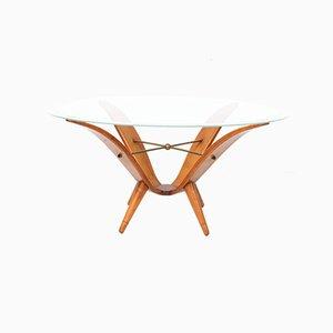 Mid-Century Modern Italian Walnut Coffee Table in the Style of Gio Ponti, 1950s