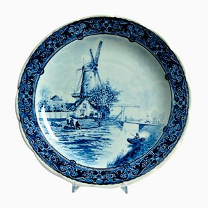 Delftware Windmill Plate from Royal Sphinx Maastricht