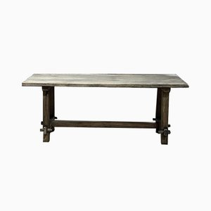 Rustic French Washed Oak Farmhouse Dining Table