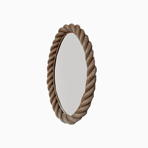 Mid-Century French Rope Mirror by Adrien Audoux & Frida Minet