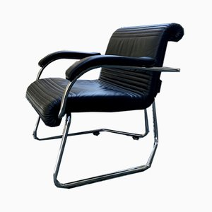 Mid-Century Leather Chair from Girsberger