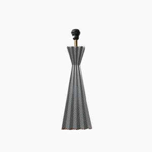 20th Century French Geometric Table Lamp in Ceramic by Fabienne Jouvin, Paris