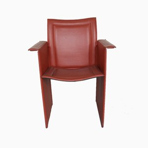 Leather Chairs, Set of 4