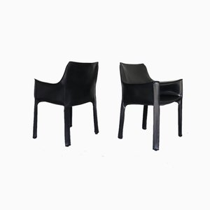 Cab Chairs by Mario Bellini for Cassina, Set of 6