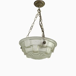 Vintage Art Deco Ceiling Lamp with Glass Bowl