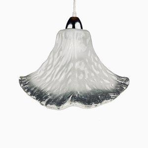 Mid-Century Murano Ice Glass Pendant Lamp by Carlo Nason, Italy, 1980s