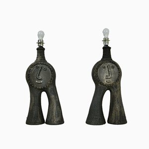 Tischlampen von Dominique Pouchain, 2er Set