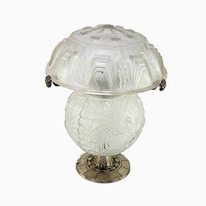 Art Deco Schreibtischlampe von Muller Freres Luneville