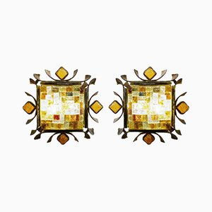 Brutalist Sconces from Poliarte, Set of 2