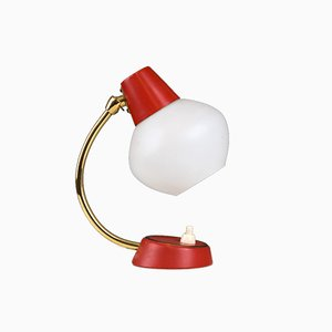 Mid-Century Rockabilly Red Table Lamp, 1950s