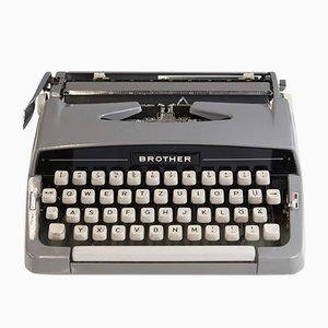 Graue Vintage Schreibmaschine von Brother, 1960er