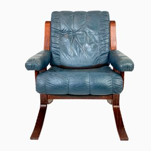 Norwegian Teak Lounge Chair, 1970s
