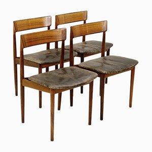 Esszimmerstühle von Henry Rosengren Hansen für Brande Mobelindustri, 4er Set