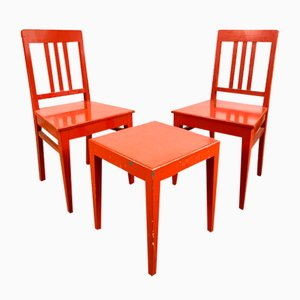 Chairs and Table Set, Sweden, 1970s