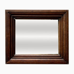 Vintage Rectangular Mirror with Thick Wooden Frame