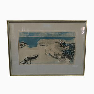 Hand Signed Lithograph by Allan Erwö, 1964