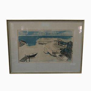 Handsignierte Lithografie von Allan Erwö, 1964