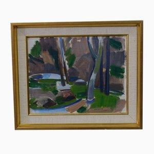 Nils-Folke Knafve, Swedish Modern Oil Painting, 1960s