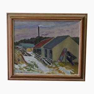 Hjalmar Lundström, Schwedisches Ölgemälde, 1930er
