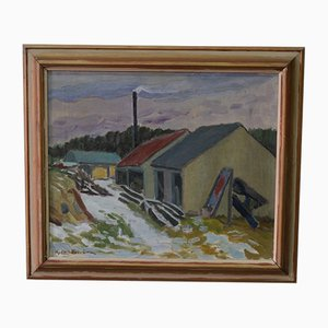 Hjalmar Lundström, Swedish Oil Painting, 1930s