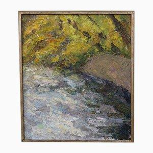 Gunnar Dahlstrand, Swedish Impressionist Oil Painting, 1964