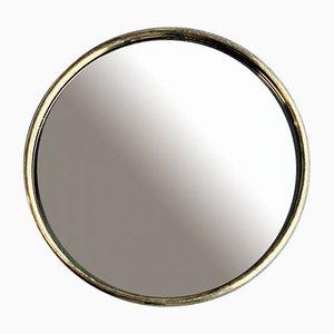 Vintage Dutch Round Gold Mirror, 1930s