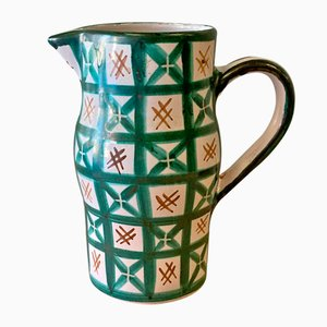 French Ceramic Pitcher by Robert Picault for Vallauris, 1950s
