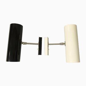 Minimalistische Vernickelte Wandlampen von Bünte & Remmler, 2er Set