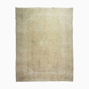 Distressed Vintage Rug in Swedish Gustavian Style with Muted Colors