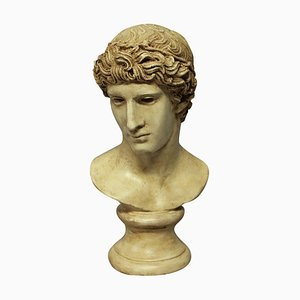 Painted Plaster Head of Roman Youth, 1960s