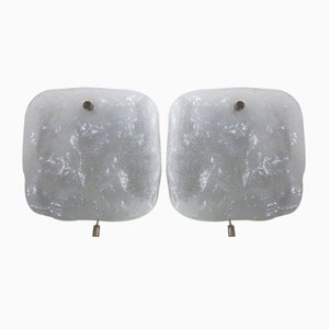 Eisglas Wandlampen von Kalmar Franken Kg, 1960er, 2er Set