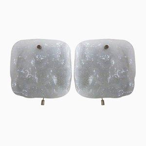 Frosted Glass Sconces from Kalmar Franken Kg, 1960s, Set of 2