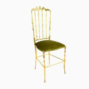 Italian Brass Chiavari Side Chair, 1960s