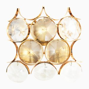 Hollywood Regency Crystal Glass Sconce from Palwa, 1960s