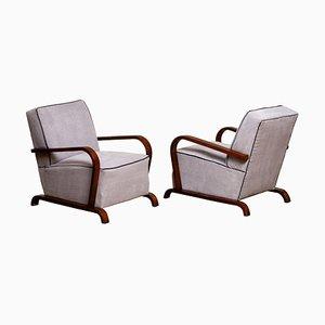 Skandinavische Art Deco Armlehnstühle, Schweden, 2er Set