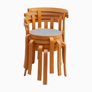 8000 Series Stacking Chairs by Magnus Olesen, Set of 4