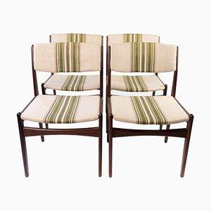 Chaises de Salon en Teck par Erik Buch, 1960s, Set de 4
