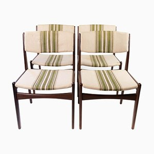 Dining Chairs in Teak by Erik Buch, 1960s, Set of 4