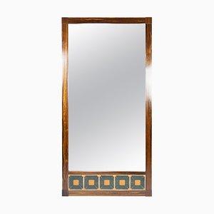 Specchio in palissandro con piastrelle, Danimarca, anni '60