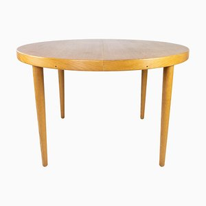 Dining Table in Light Wood with Extension Plates by Omann Junior, 1960s