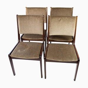Esszimmerstühle aus dunklem Holz von Farstrup, 1960er, 4er Set