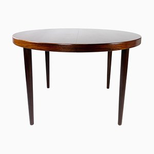 Dining Table in Rosewood with Extension Plates by Omann Junior, 1960s
