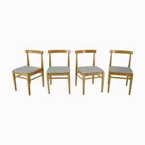 Minimalist Dining Chairs, Czechoslovakia, 1960s, Set of 4