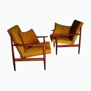 Vintage Armchairs, Czechoslovakia, 1960s, Set of 2
