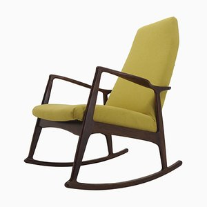 Beech Rocking Chair, Czechoslovakia, 1960s