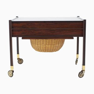 Rosewood Sewing Table, Denmark, 1960s
