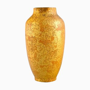 Antique Ceramic Vase with Gold Decoration by Sevres for Delvaux, 1910s