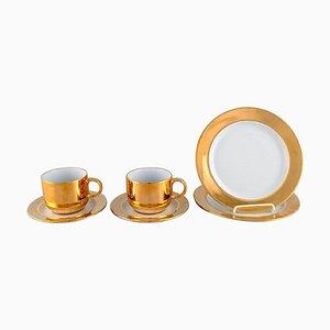 Kaffeeservice aus Porzellan von Langenthal, Schweiz, 1930er, 6er Set